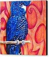 Blue Cockatoo Canvas Print by Diana Shively