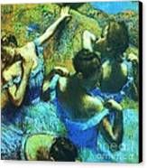 Blue Dancers Canvas Print by Pg Reproductions