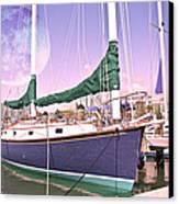 Blue Moon Harbor II Canvas Print by Betsy Knapp