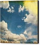 Blue Sky On Old Grunge Paper Canvas Print by Setsiri Silapasuwanchai