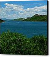 Blue Waters Of Horsetooth Reservoir Canvas Print by Aaron Burrows