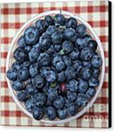 Blueberries - 5d17825 Canvas Print by Wingsdomain Art and Photography