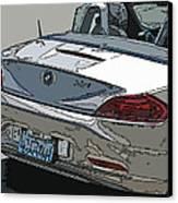 Bmw Z4 Rear Study Canvas Print by Samuel Sheats