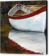 Boat Into The River Canvas Print by Jose Romero