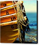 Boat Ropes Canvas Print by Suni Roveto