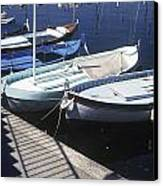 Boats In Harbor Canvas Print by Axiom Photographic