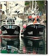 Boats Canvas Print by Jenny Senra Pampin