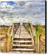 Boca Grande Boardwalk Canvas Print by Jenny Ellen Photography