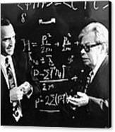 Bogolyubov (right), Soviet Physicist Canvas Print by Ria Novosti