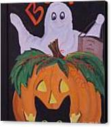 Boo-happy Halloween Canvas Print by Janna Columbus