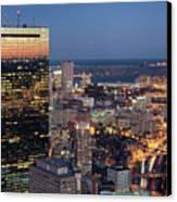 Boston By Night. Canvas Print