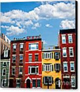 Boston Houses Canvas Print