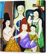 Botero Style Family Canvas Print