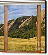 Boulder Colorado Flatirons Window Scenic View Canvas Print by James BO  Insogna