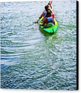 Boys Rowing Canvas Print