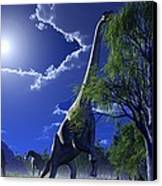 Brachiosaurus Dinosaurs, Artwork Canvas Print by Roger Harris