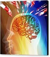 Brain Drug Canvas Print by Pasieka