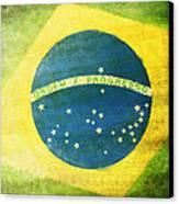 Brazil Flag Canvas Print by Setsiri Silapasuwanchai