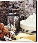 Bread Making Canvas Print