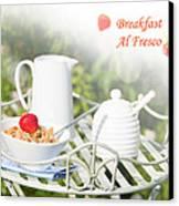 Breakfast Al Fresco Canvas Print by Amanda Elwell