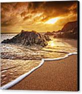 Breakthrough At Leas Foot Canvas Print by Mark Leader