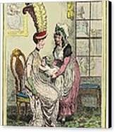 Breastfeeding, 18th-century Caricature Canvas Print