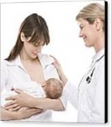 Breastfeeding Advice Canvas Print by
