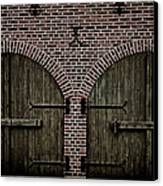Brick Zipper Canvas Print by Odd Jeppesen