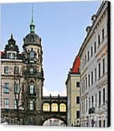 Bridge Over Taschenberg Street Dresden Canvas Print by Christine Till