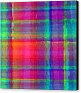 Bright Plaid Canvas Print by Louisa Knight