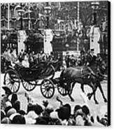 British Royal Family. In Coach British Canvas Print by Everett