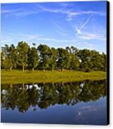 Broemmelsiek Park - Spring Reflections Canvas Print by Bill Tiepelman