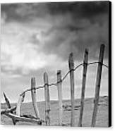 Broken Fence In Dune, South Shields Canvas Print by John Short