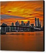 Brooklyn's Twilight V2 Canvas Print by Michael Murphy