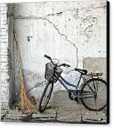 Broom And Bike Canvas Print