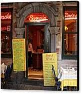 Brussels - Restaurant Savarin Canvas Print by Carol Groenen