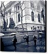 Bryant Park Umbrella Runway Canvas Print by Chandra  Dee