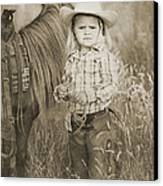 Buckaroo Cowgirl And Horse Canvas Print by Cindy Singleton