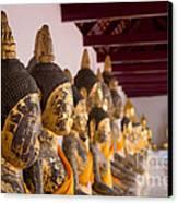 Buddha Culptures Canvas Print