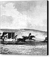 Buffalo Hunt, 1841 Canvas Print