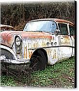 Buick Yard Canvas Print by Steve McKinzie