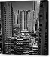Buildings In Hong Kong Canvas Print by All rights reserved to C. K. Chan