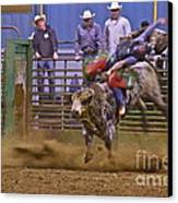 Bull Rider 1 Canvas Print by Sean Griffin