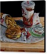 Burger King Value Meal No. 1 Canvas Print