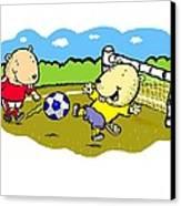 Busy Beaver Soccer Canvas Print