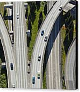 Busy Freeway Interchange Canvas Print by Don Mason