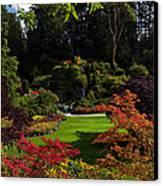 Butchart Gardens - Sunken Garden Canvas Print by Matt Dobson