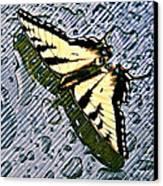 Butterfly In Rain Canvas Print by Susan Leggett