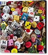 Buttons And Dice Canvas Print by Garry Gay