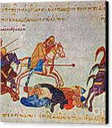 Byzantines Cavalrymen Pursuing The Rus Canvas Print